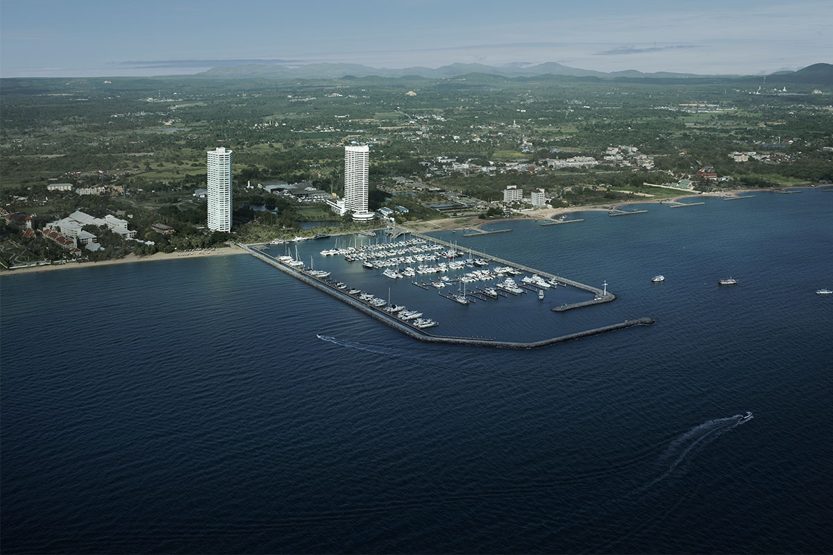 ocean marina aerial