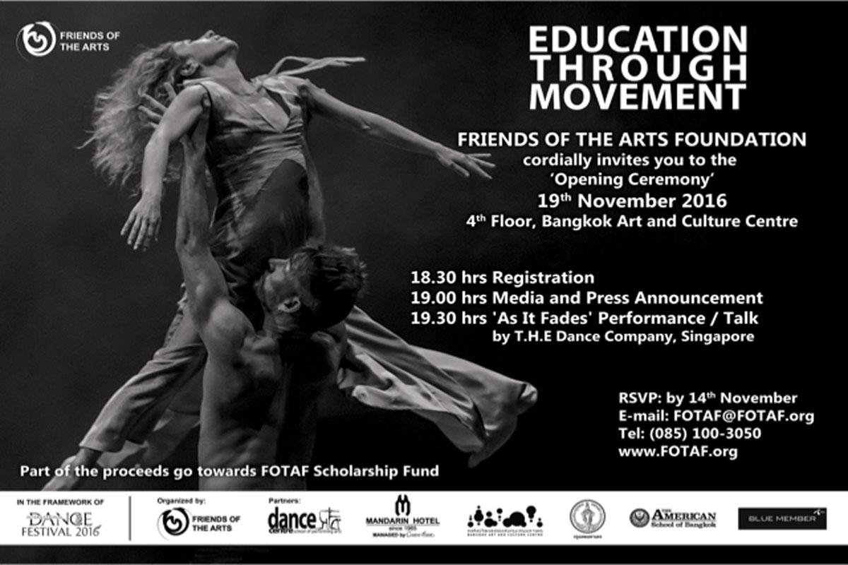 event invitation education through movement poster