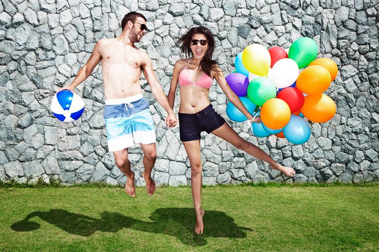 breeze spa couple happy