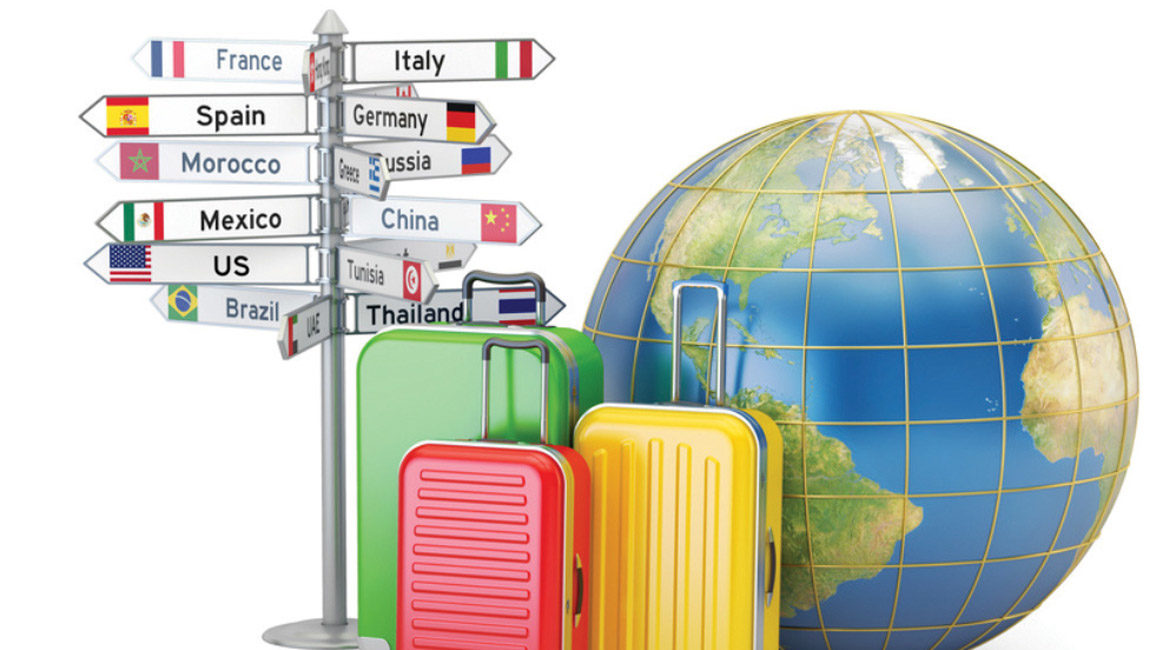 luggage bag and travel the world