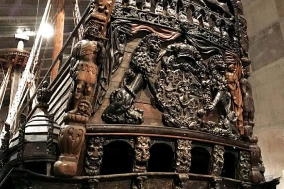 front of the vasa ship