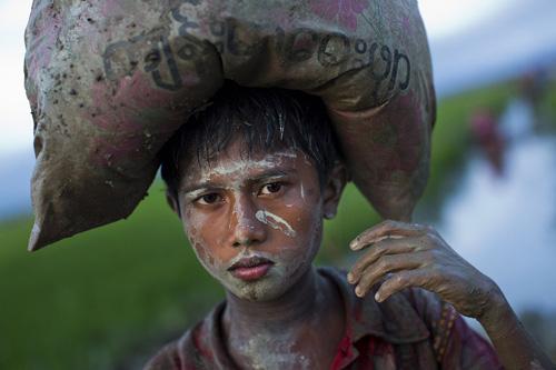 children on dirt