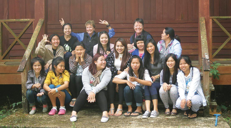 friends of thai daughters kids and elder