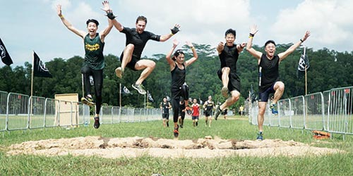 spartan family jump together