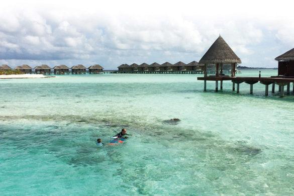 Maldives swim and enjoy