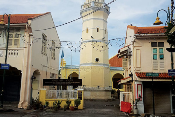 historical tower in the Penang