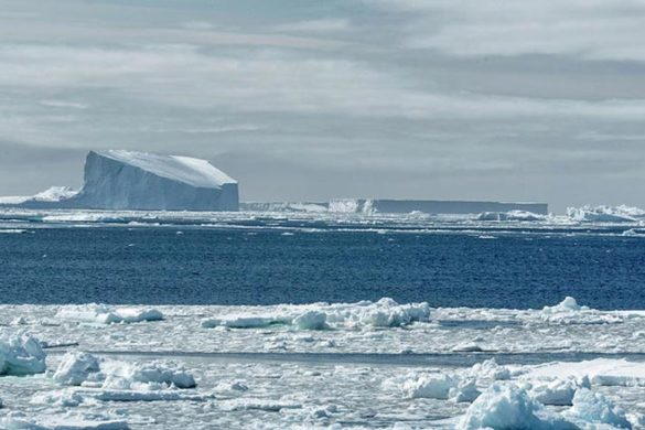 South pole ice berg
