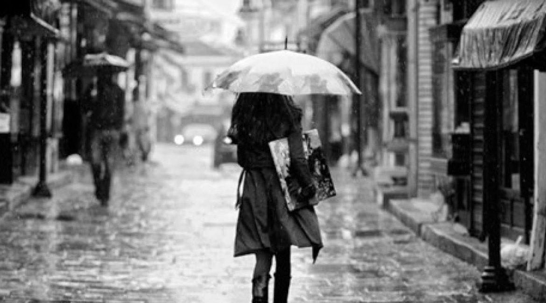 Raining and have umbrella