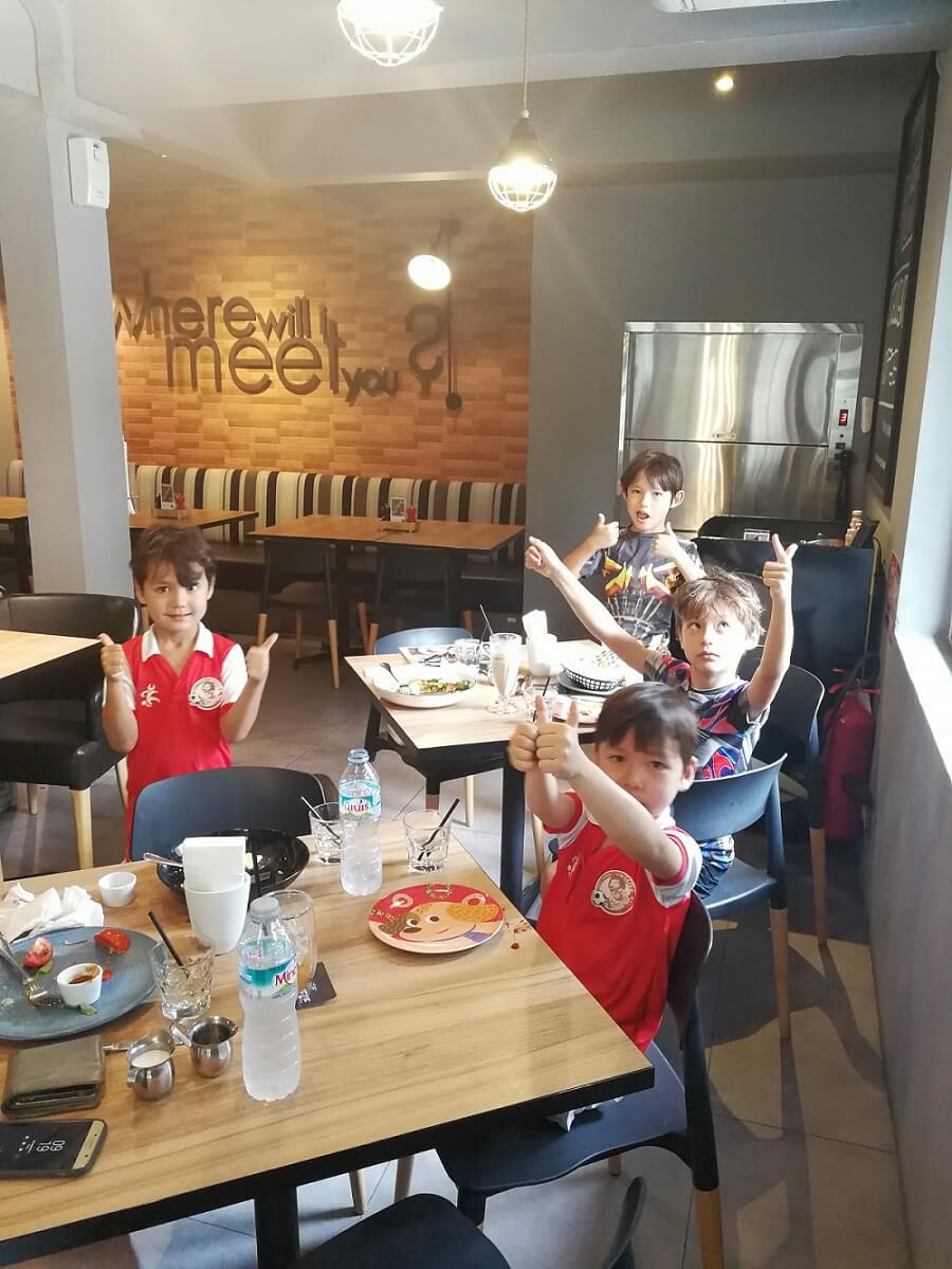 Children in -The Shop