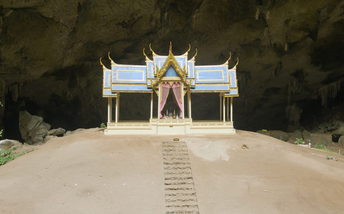 Pavilion in the cave