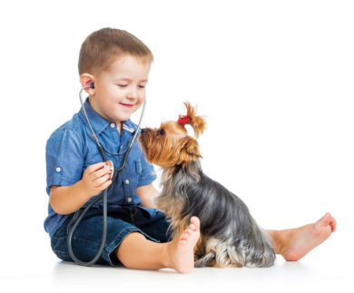 setting your children- a kid want to be a veterinary