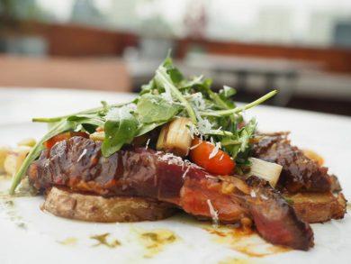 hoi-sin rib eye steak