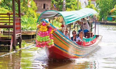 khlong side-bangkok boat