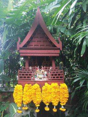 spirit houses-temple flower