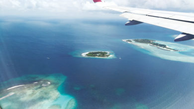 view of Maldive in the sky