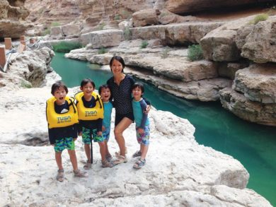 Oman travel with my wife and twins