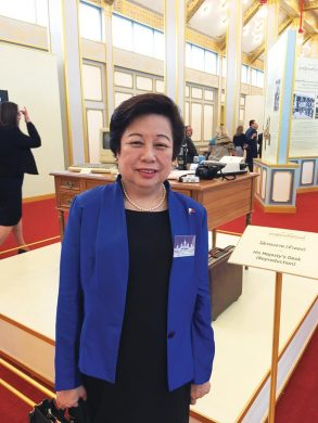 Philippine Ambassador at the opening exhibition of Rama at the royal crematorium