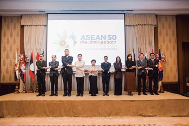Philippine Ambassador Launching of the Philippine chairmanship of ASEAN 25 Jan 2017 with ASEAN Embassy officials