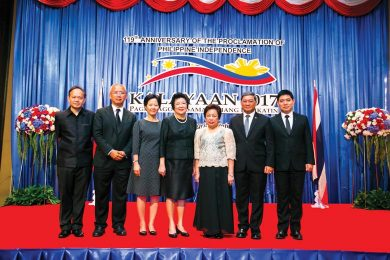 Philippine Ambassador with senior royal Thai government officials