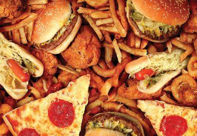 Burger Pizza Fries