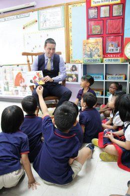 The Headmaster teaching