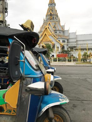 Tuktuk waiting in the Temple