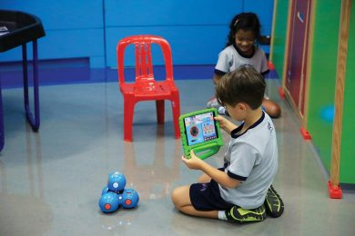 kids enjoy to study to a robotics school
