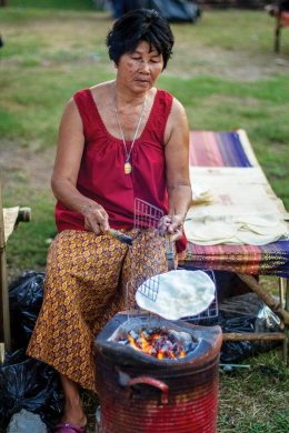 a Lady Cooking