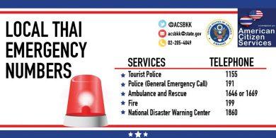 Medical Emergency Numbers