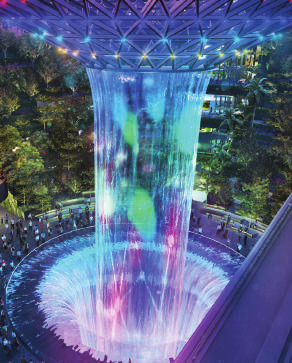 Singapore lights at night