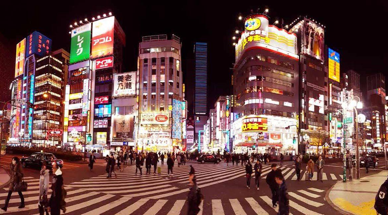 Walking at Night in Japan