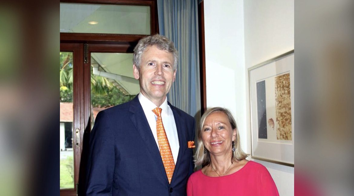 The Danish Ambassador At Home IN Thailand With His Wife