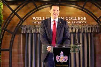 Man speech in Wellington College Bangkok