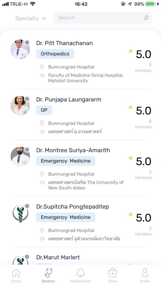 Bumrungrad Direct App
