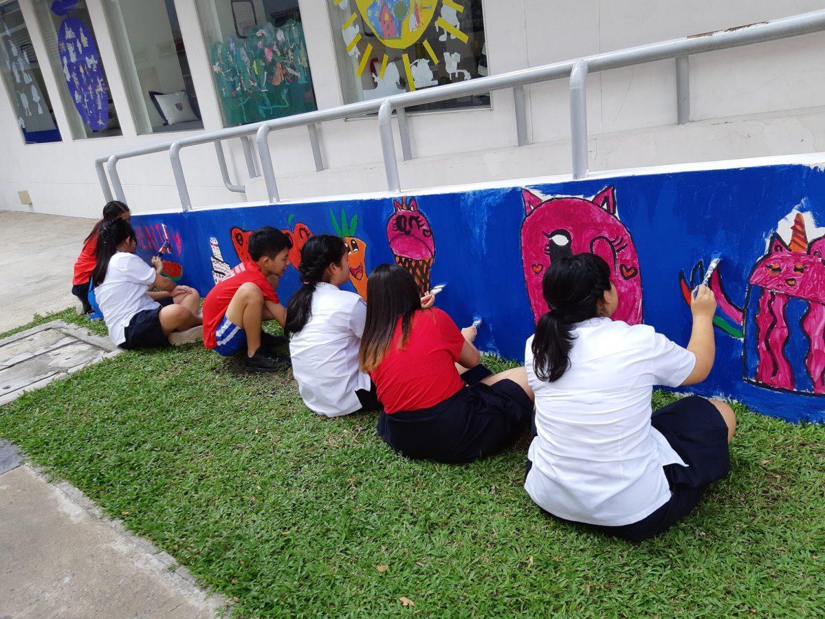 outdoor classroom decoration