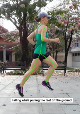 Hannah running form