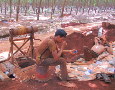 Cambodian miners