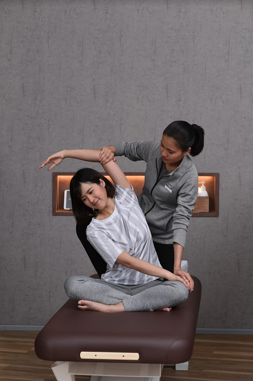 Massage stretching