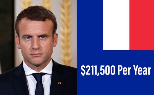 PRESIDENT OF FRANCE: EMMANUEL MACRON