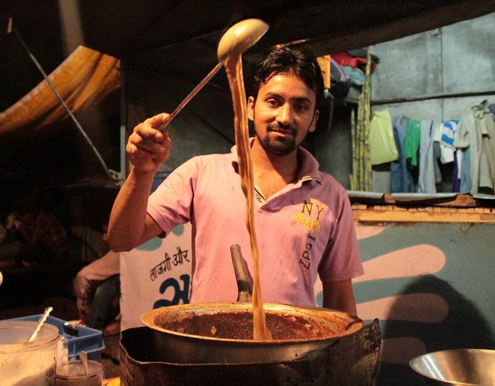 Chai wallah - tea street seller