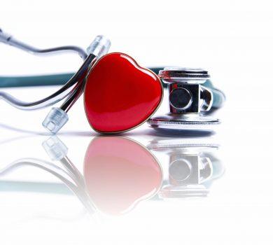 heart and stetoscope