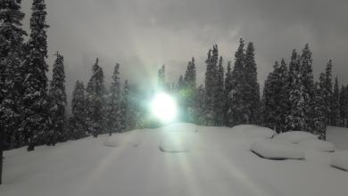 sun in snow