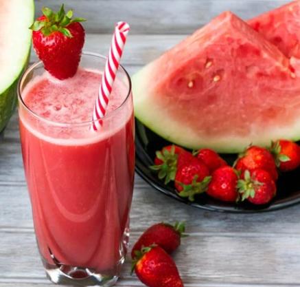 Watermelon strawberry smoothie
