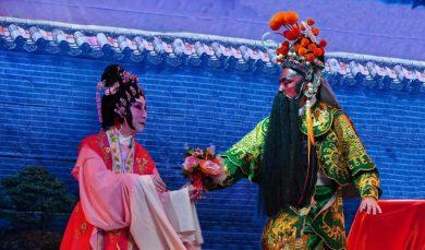 Chinese opera scene