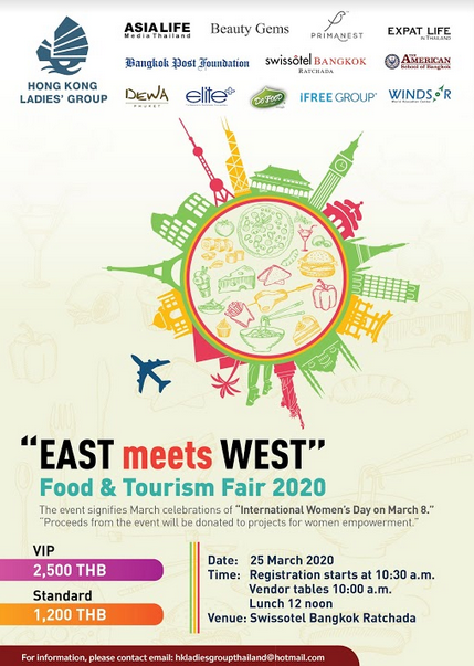 East meet West Food and Tourism Fair.
